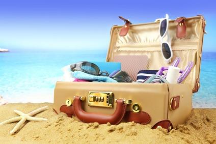 Ferie og rejsekuffert